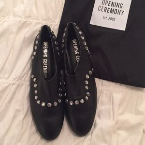 NEW Opening Ceremony Charly black leather flats💫